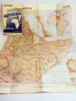 Etiópia (Abesszínia) térképe M.kir. térképészet   1935  méret 48 x 60 cm.