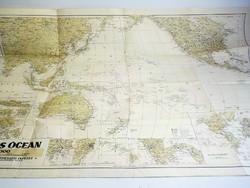 Csendes Óceán  térképe M.kir. térképészet   1941  méret 93 x 64 cm.