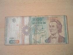 ROMÁNIA 1000 LEI 1991 H. SZÉRIA