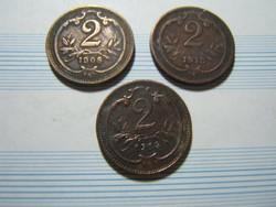 2 hellerek 1908-1913-1914