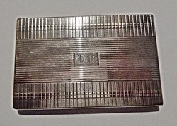 L.B. monogramos ezüst cigarettatárca
