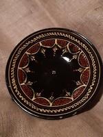 Mázas kerámia tányér