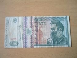ROMÁNIA 500 LEI 1992 G. SZÉRIA