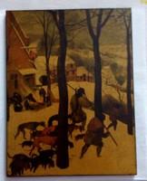 Vadászok a hóban festmény részlet -nyomat