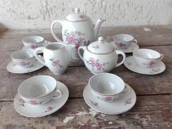 Ritka 6személyes porcelán kávéskészlet ( Kispesti )