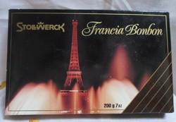 Régi desszertes (karton) doboz (Francia bonbon, 1994)