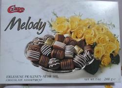 Régi osztrák desszertes (karton) doboz (Melody, 1995)