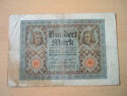 NÉMET BIRODALOM 100 MÁRKA 1920 H / U SZÉRIA, 7 SZÁM
