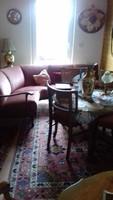 Chippendél barok sarokülögarnitura asztallal és 4 székkel