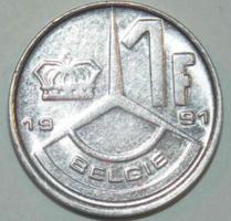 1 Frank - Belgium (Belgie) - 1991.