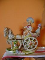 Barokk német porcelán figura - Régi Lippelsdorfi vitrin állapotban .....