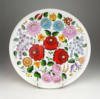 0V042 Kalocsai porcelán falitányér 28.5 cm