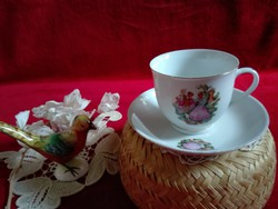 Csésze szett, barokk jelenetes, hibátlan, teának vagy kávénak