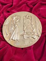 Borsos Miklós bronz plakett