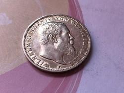 """1910""""F"""" ezüst 3 márka Württemberg 16,67 gramm 0,900 Ritkább"""