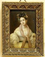 19.sz-i miniatűr: Fiatal lány félalakos portréja