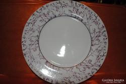 Hollóházi porcelán füves alátét tányér