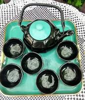 Japán stílusú vagy eredeti (bár nem hiszem, mert jelöletlen) teázó készlet