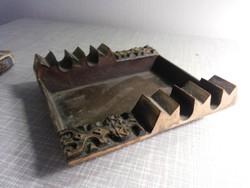 Zsűriztetett bronz iparművészet hamu tál hamutál hamus hamutartó