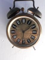 Antik nem működő vörösréz réz vekker ébresztő óra