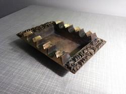 Zsűriztetett iparművészeti bronz hamutál hamus hamutartó hamu tartó