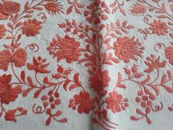 Vászonra hímzett díszpárnahuzat-matyóminta