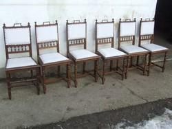 Hat darab szék