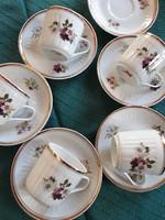 Szép Hollóházi porcelán kávés szettek