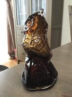 Régi üveg bagyoly szobor