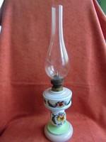 Árvácska mintás fújt, szakított üveg petróleum lámpa