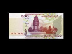 UNC - 100 RIELS - 2001 - KAMBODZSA
