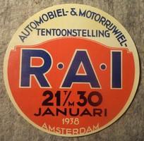R.A.I. Amsterdam  1938