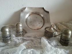 EPNS ezüstözött jelzett asztali fűszeres együtt