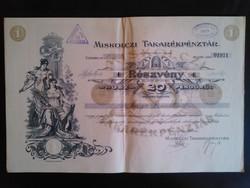 Pénzpiaci papírrégiség - részvény (1926)