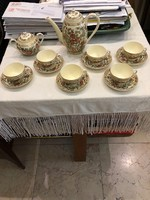 Zsolnay 6 személyes gyönyörű japán mintás kávés készlet kiváló állapotban