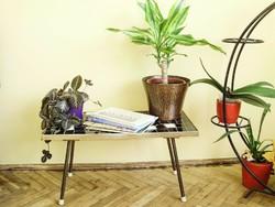 Vintage,Mid-Century Modern,Retró fekete-fehér mozaik asztal, dekor asztal