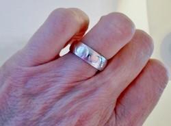 Szép régi széles ezüst karikagyűrű