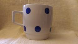 Zsolnay porcelán kék pöttyös 3dl bögre
