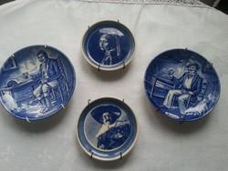 Angol Wedgwood+2 Delf porcelán tányérok