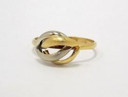Kő nélküli sárga-fehér arany gyűrű (ZAL-Au78819)