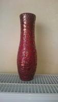 Zsolnay repesztett ökörmázas váza. 27 cm