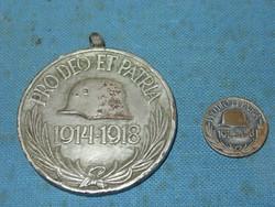 PRO DEO ET PATRIA, HÁBORÚS EMLÉK ÉREM + MINI 1914-1918