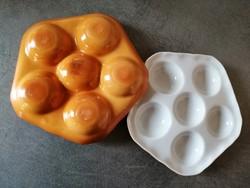 2 db porcelán tojáskínáló Luzifer Bauscher Weiden Bavaria