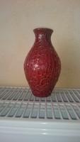 Zsolnay ökörmázas repesztett váza.  14 cm