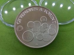 Ötvenéves a forint ezüst 2000 Ft 1996 BU /id 3225/