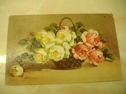 Irigység és szerelem, dombor-nyomott, festmény hatású képeslap: 1931.
