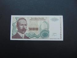 500 millió dinár 1993 Szerbia UNC !!!