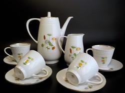 Régi  4 személyes porcelán teáskészlet