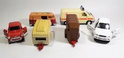 6 darab kisautó Welly utánfutó , Volkswagen , mentőautó