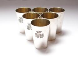 Alexander Sturm ezüst kupicás pohár szett.